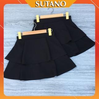 Chân váy ngắn xòe chân váy tầng 2 tầng cạp chun (có lót quần trong) CV54 thumbnail