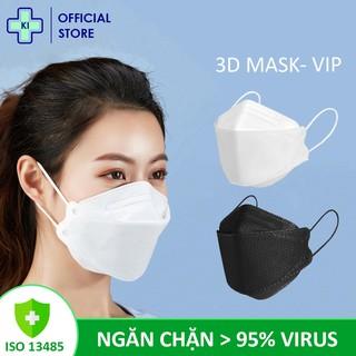 Khẩu trang 4 lớp 3d mask KI STORE, chống bụi mịn lên đến 95% có thể tái sử dụng 2-3 thumbnail