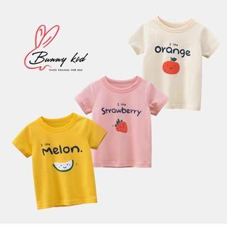Áo thun bé gái 27Home áo cộc tay cho bé chất cotton hoạ tiết hoa quả