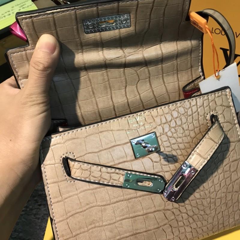 Túi xách HM kelly size22 vân da rắn thời trang<freeship 50k>Tặng kèm khăn lụa phối đồ sành điệu