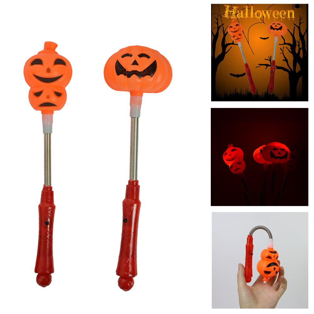 Halloween Pumpkin Light Illuminated Hand Stick Rod Child Pumpkins Clothing Accessories Props Gift