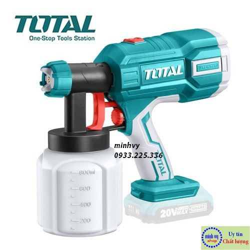 Súng phun sơn dùng pin 20V Total TSGLI2001 - Không bao gồm Pin và Cục sạc