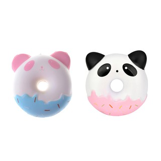 NBY❤❤10cm Panda Donuts Soft Squeeze TOY Jumbo Squishy Slow Rising Kid To