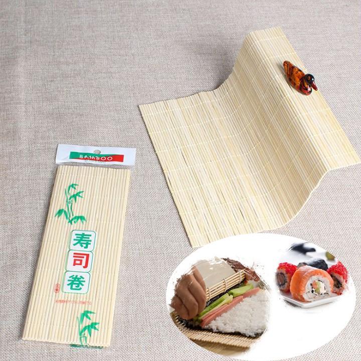 Combo 2 Mành cuộn sushi 24x24 (cm) - Bamboo Sushi-Mat Mành gỗ