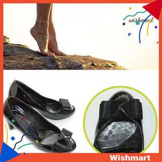 Set 2 Miếng Đệm Gel Lót Giày Cao Gót Trong Suốt Đàn Hồi Chống Trượt