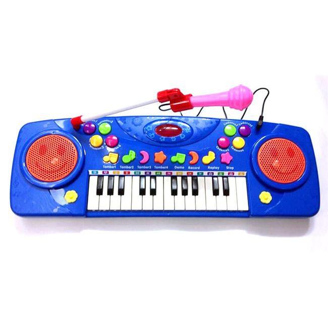 Đàn organ có nhạc kèm mic hát karaoke cho bé