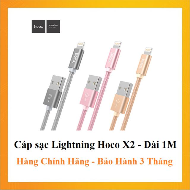 Cáp Sạc LIGHTNING Hoco X2 - Dài 1m - Cáp Iphone