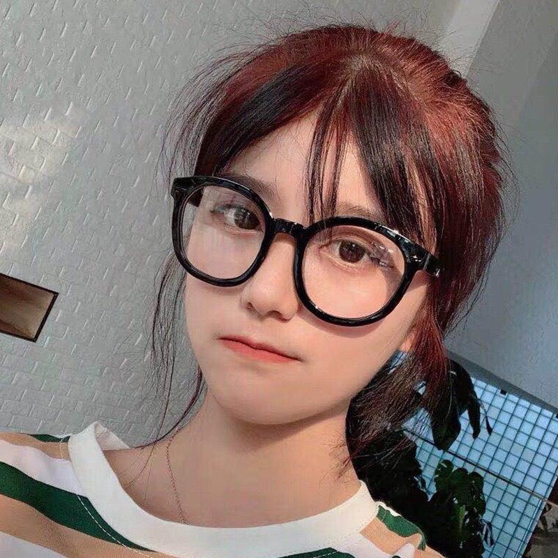 Kính cận thời trang nam nữ gọng tròn cute giá rẻ mắt kính không độ chống tia UV phong cách...