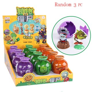 Game Plants Vs Zombies Egg Toys Abs Pvz Peashooter Building Blocks Diy Puzzle For