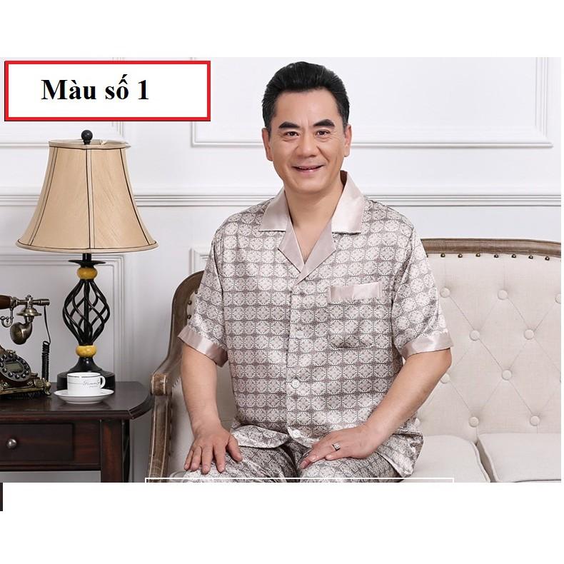 bộ pyzama ngắn tay mặc nhà nam trung niên_hàng sẵn BHA9070163