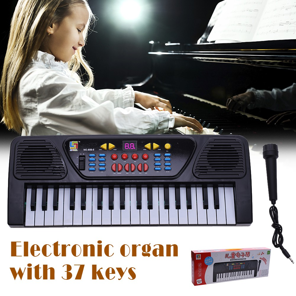 Kids Childrens 37 Key FM Radio Electronic Keyboard Piano Musical Toy Mic