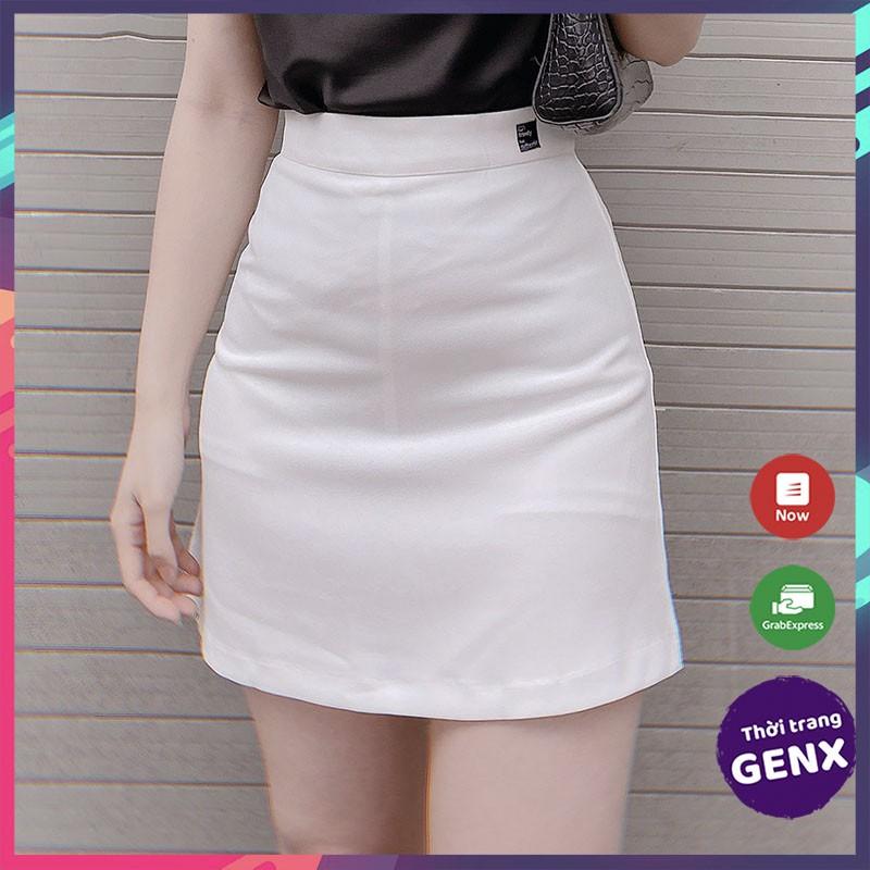[Mã FAMAYWA giảm 10K đơn 50K] Chân váy chữ a ngắn lưng cao, chân váy công sở có quần lót cao cấp HOT 2021 GENX12