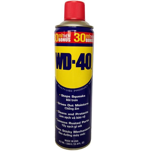 Chai xịt chống rỉ, chống ẩm phá rỉ sét bôi trơn WD-40 412ml