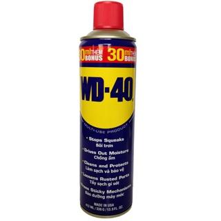 [Chính Hãng] Chai xịt chống rỉ, chống ẩm phá rỉ sét bôi trơn WD-40 412ml-NKLUBE