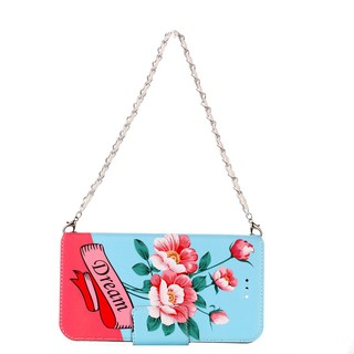 Pearl Phone Case For Oppo R9S Plus Flower Flip PU Leather Wallet Bag For Lady with Bracelet