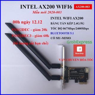 Card wifi không dây intel – Card wifi máy tính PC – AX200 – 9260AC – 7260AC – kèm bluetooth tốc độ cao