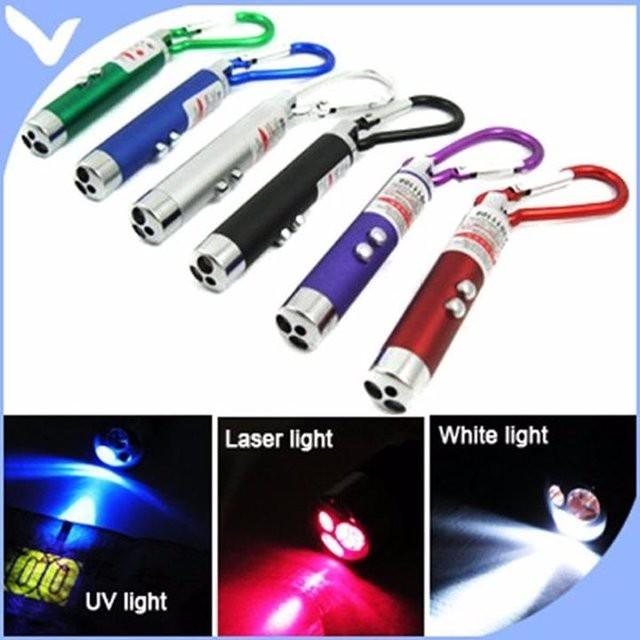Đèn laser 3 trong 1 soi tiền giả, rọi đường, laser