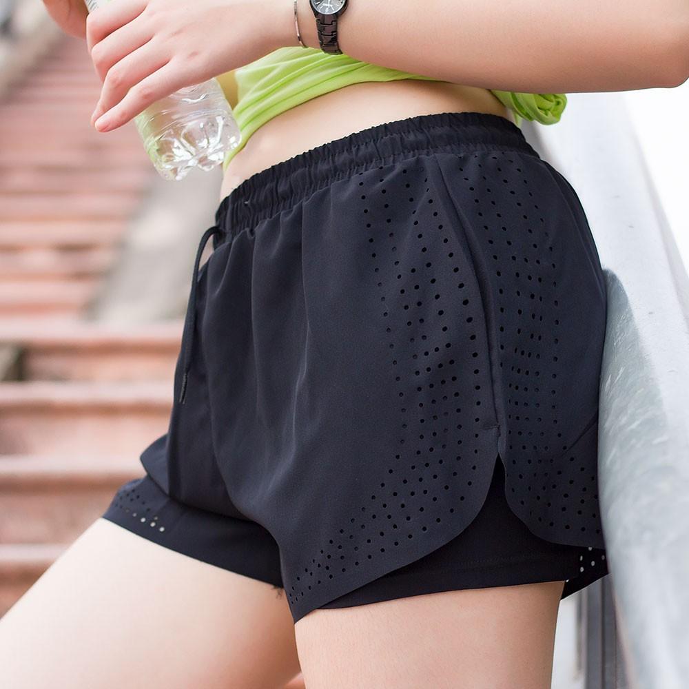 Quần đùi boxer không viền tập gym, chạy bộ, aerobic