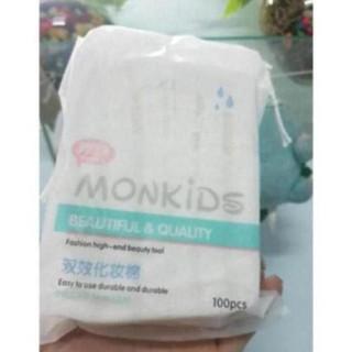 [MIX98] Bông tẩy tang 3 lớp Mnkis 100% cttn 100 miếng