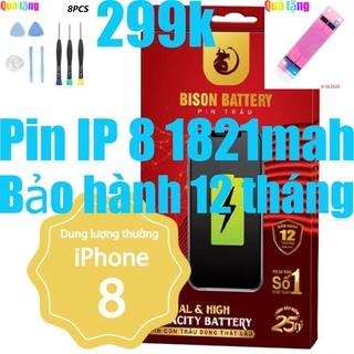 Pin iPhones 8 Con Trâu dung lượng 1821mAh BISON chính hãng thumbnail