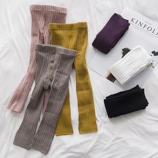 Quần legging len thời trang màu trơn cho bé gái