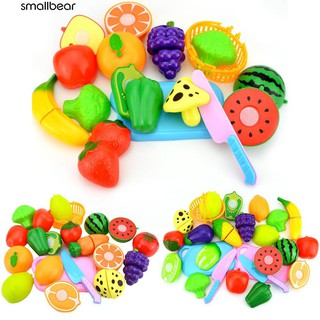 💮🐬Kids Pretend Role Play Kitchen Fruit Vegetable Toys Cutting Toy Set