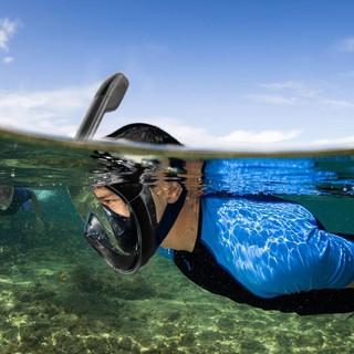 Mặt Nạ Lặn Biển Full Face view 180 Độ Ống Thở Có Van 2 Chiều, Chống Ngập Nước, Chống Mờ