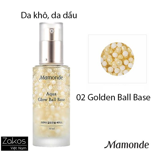 Kem Lót Mamonde Aqua Glow Ball Base 50ml - Kem lót dạng gel
