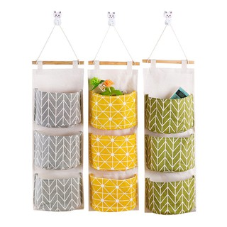 Túi đựng đồ treo tường chất liệu cotton linen chống thấm nước