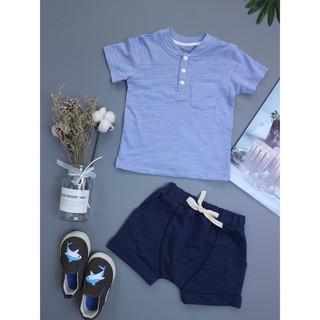 BT-012 Set quần áo bé trai công tử xanh dương