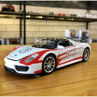 Mô hình xe ô tô Porsche 918 Martini tỉ lệ 1:32 màu trắng
