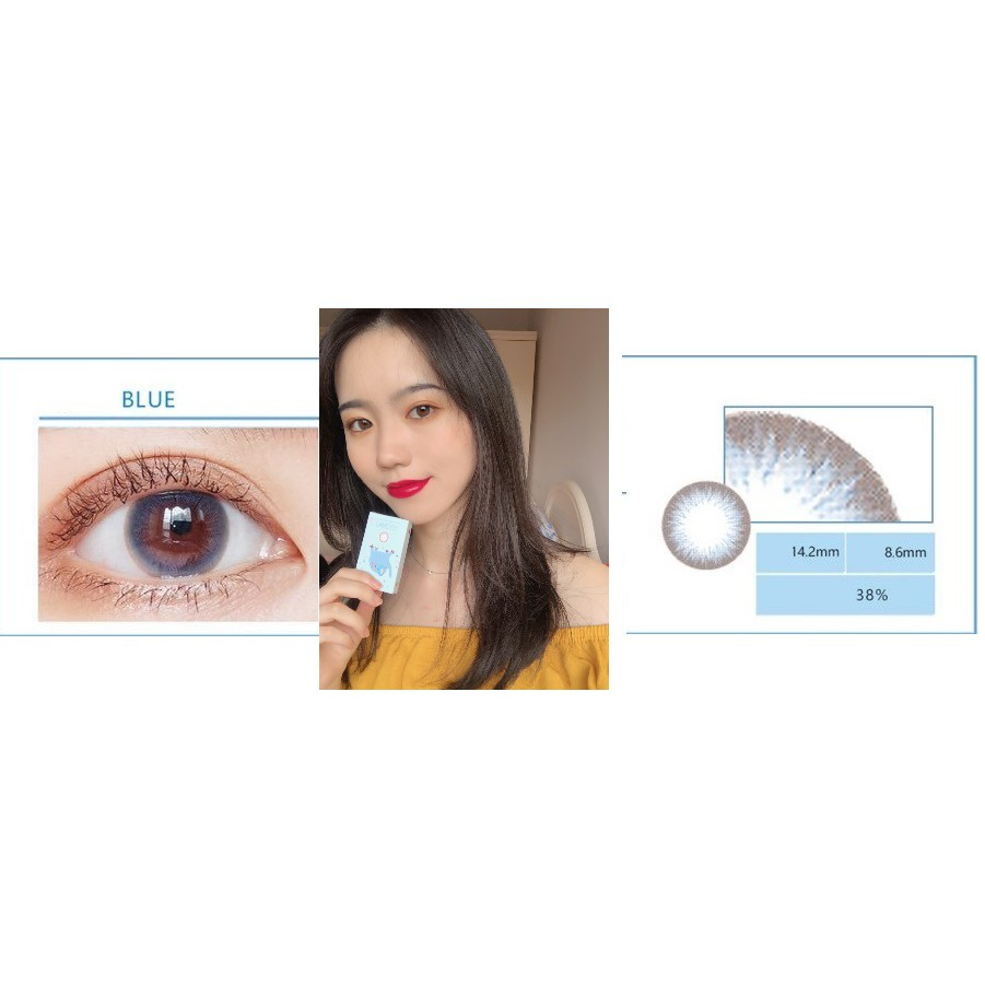 (20.JULY.26)XTLAN Series,Silicone Hydrogel,Sensitive Eye,LENSLOVE Brand ,14.2mm,Grade 0-900,Contact Lenses 6-months use(blue)