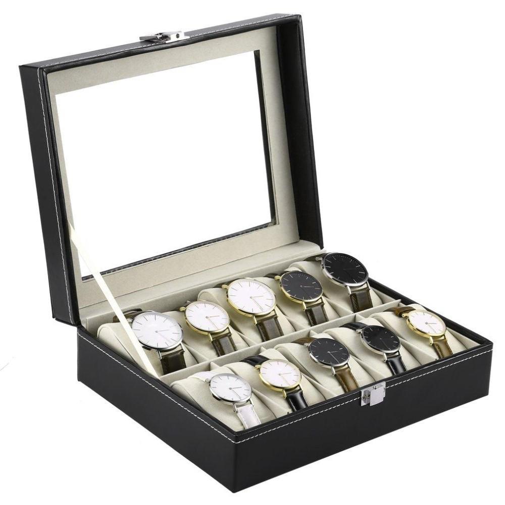 [RẺ VÔ ĐỊCH] Hộp đựng đồng hồ nhiều ngăn bằng da - Hộp đựng trang sức