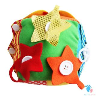 Funny Bright Color Design Kids Early Teaching Toys Cloth Dice Develop Training