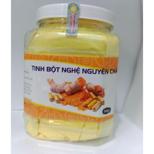 500gr tinh bột nghệ vàng thủ công trị đau dạ dày, đẹp da có giấy chứng nhận ATTP
