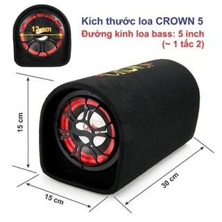 Loa Crown cỡ số 5.