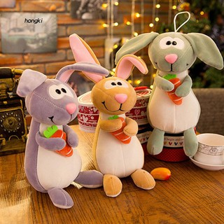 【HKM1】Cute Easter Cartoon Naughty Rabbit Plush Doll Soft Stuffed Toy Home Decoration