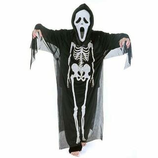 Trang Phục Hóa Trang Halloween Xương Người và Mặt Nạ Đầu Lâu Rùng Rợn Dành Cho Nam Nữ