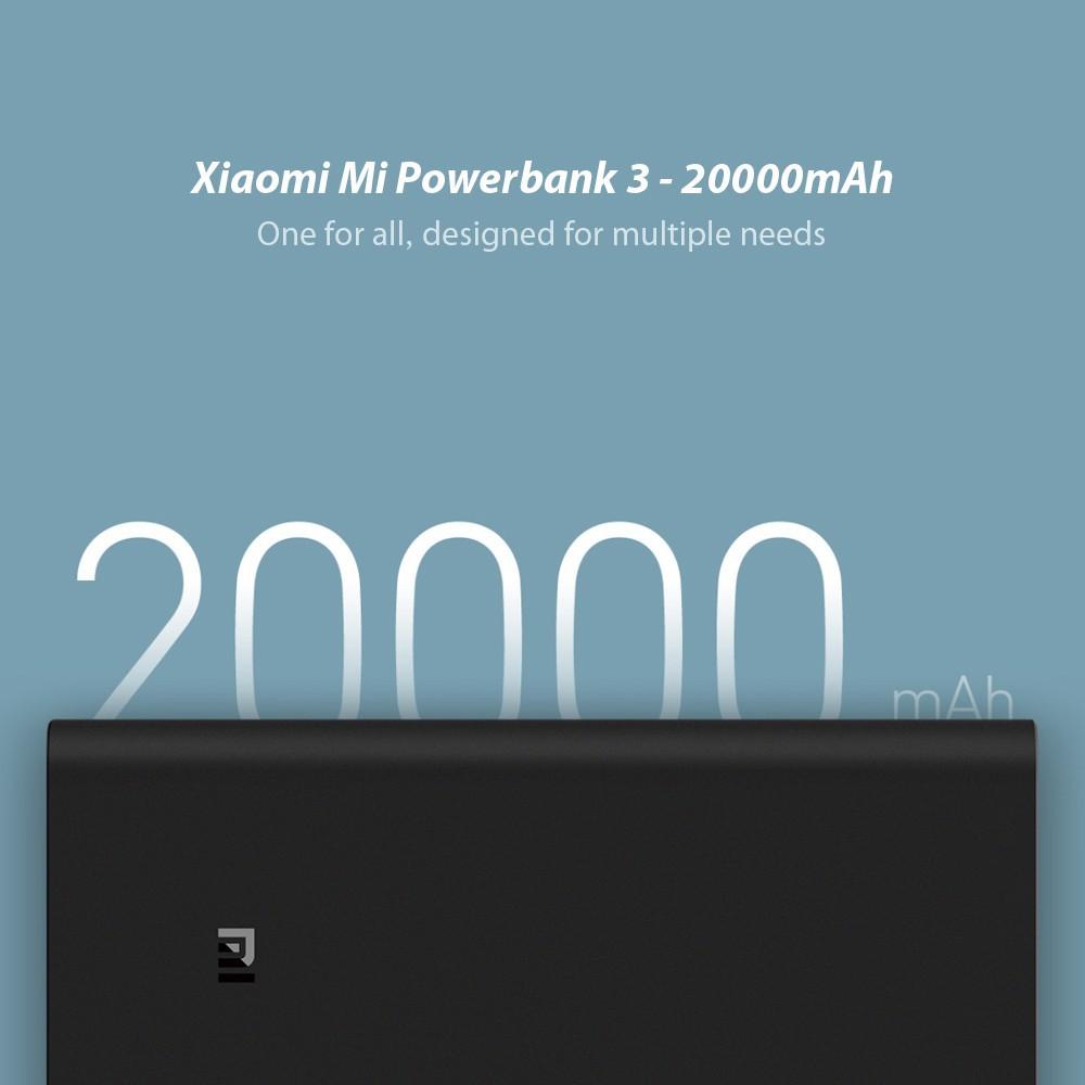 Pin sạc dự phòng Xiaomi 20000mAh 3 Pro/Đen (Black) (VXN4254GL)