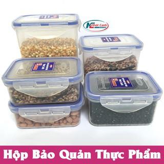 Hộp bảo quản thực phẩm 4 khóa bằng nhựa sử dụng được trong lò vi sóng