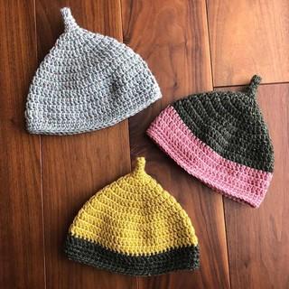 Mũ tỏi len viền [crochet] xinh cho bé korea