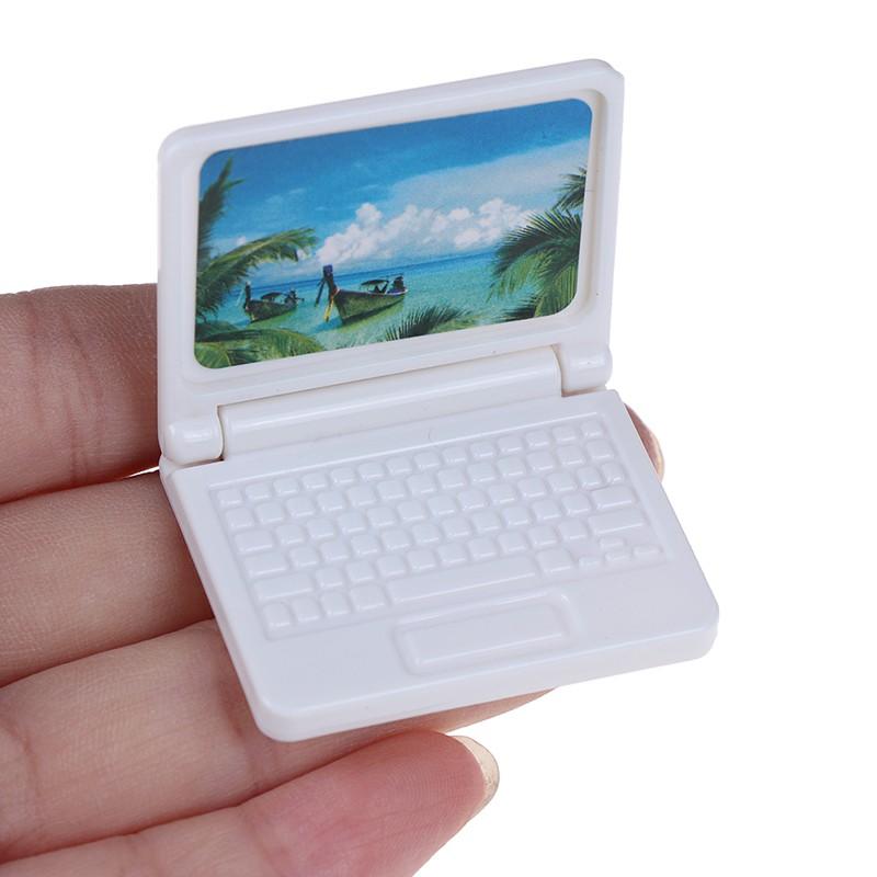 Mô hình máy tính trang trí nhà búp bê độc đáo