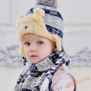 Set nón len và khăn quàng giáng sinh đáng yêu dành cho bé