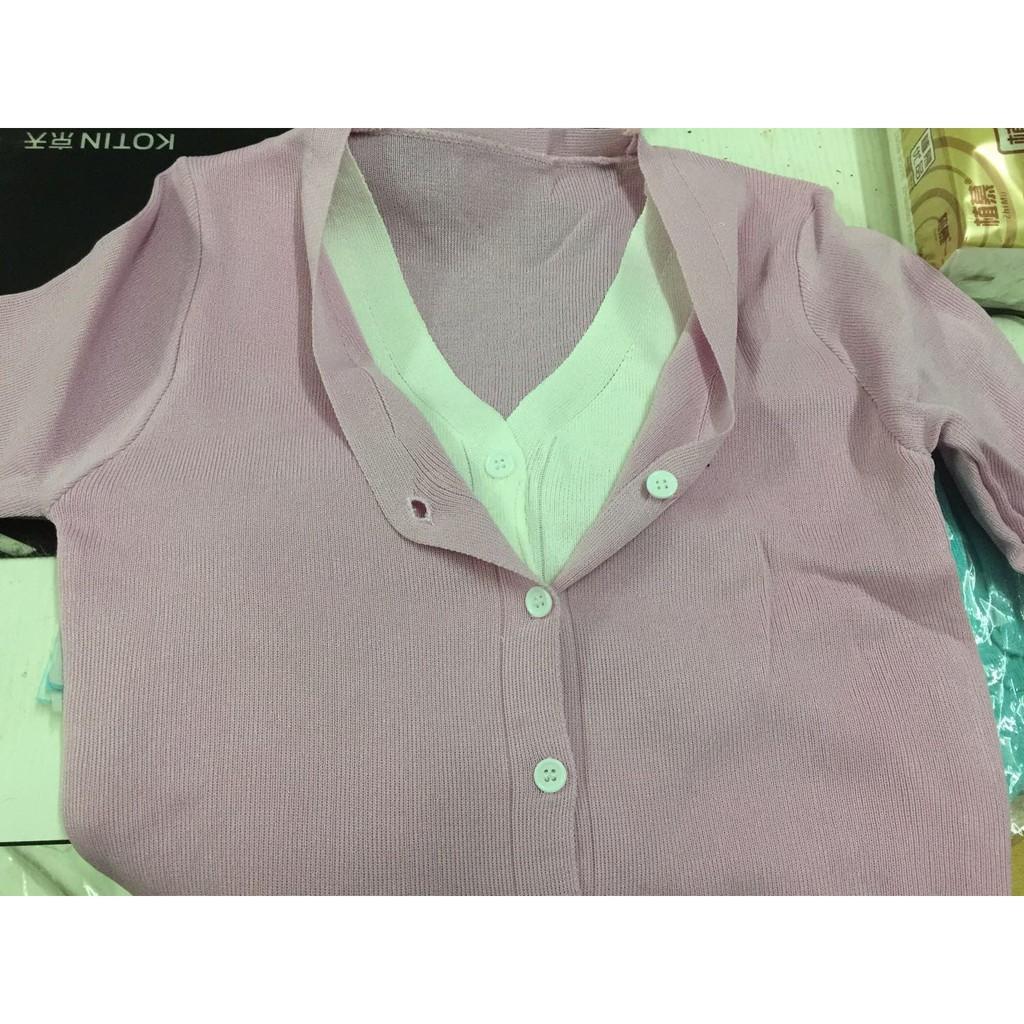 [Mã WACB219 hoàn 12K xu đơn 50K] Áo khoác cardigan Giả Lớp Thời Trang Nữ Tính