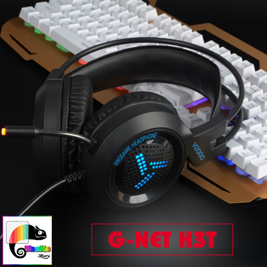 Tai Nghe Gaming GNET H3T Có Mic, Màu đen, G-Net H3T Gaming Headphone