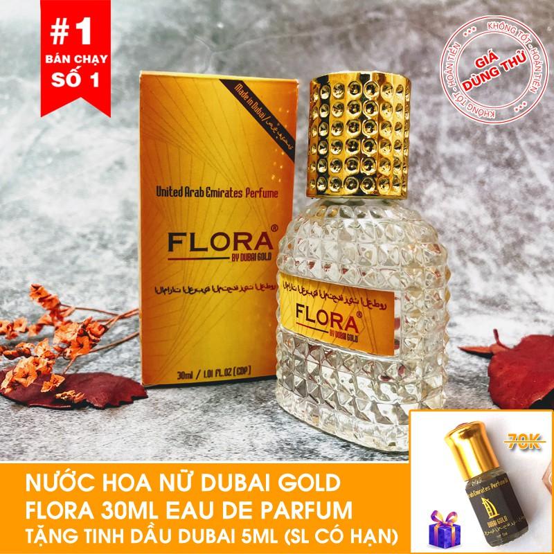 [Tặng tinh dầu Dubai ] Nước hoa nữ nội địa Dubai Gold Flora 30ml tặng tinh dầu Dubai 5ml