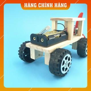 [Free Ship] Combo 4 bộ đồ chơi khoa học DIY: ô tô + máy hút bụi + quạt bàn + đèn giao thông để trẻ tự học STEM