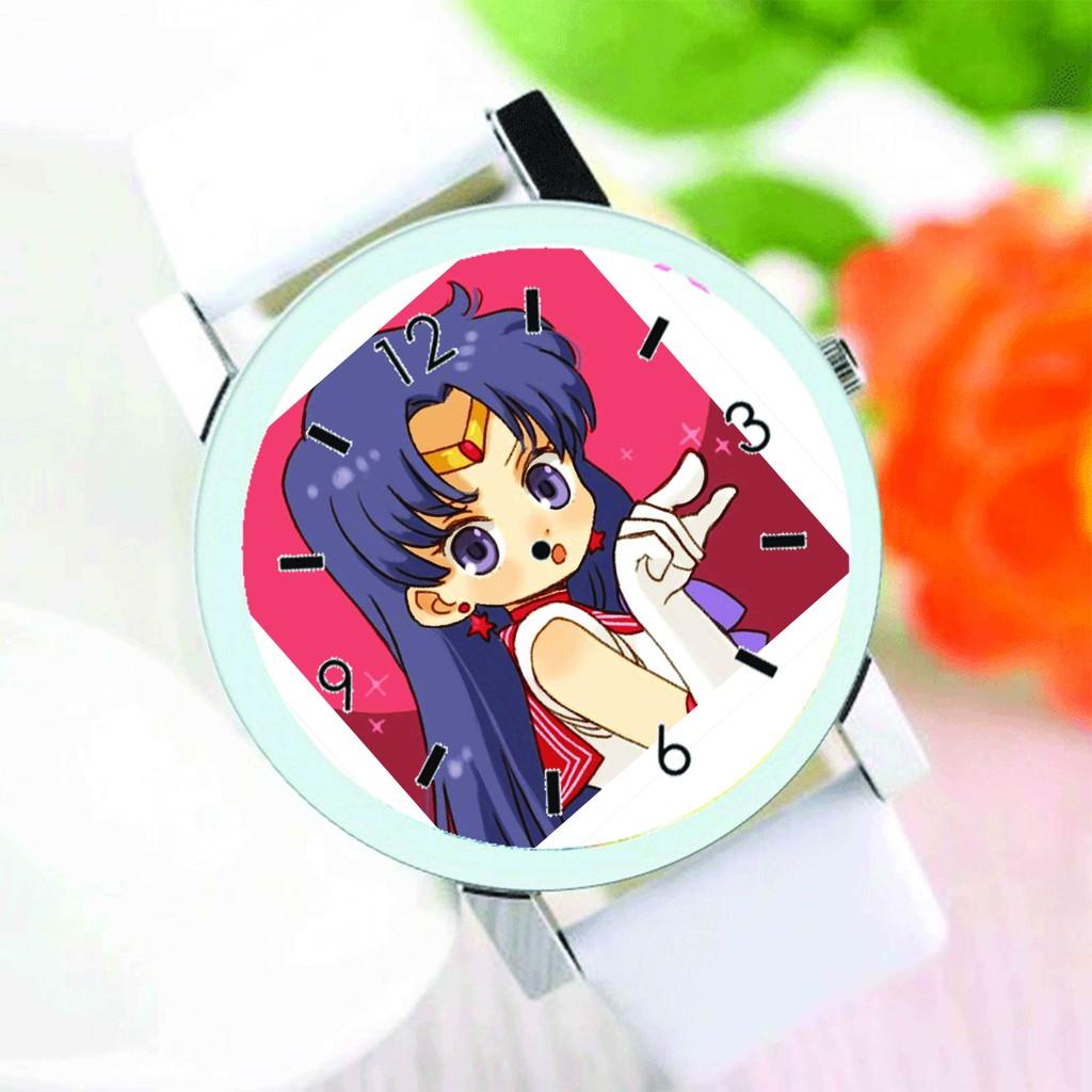 Đồng hồ đeo tay nam nữ in hình SAILOR MOON THỦY THỦ MẶT TRĂNG anime chibi thời trang dễ thương độc đáo