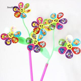 LYY_Cute Dumbo Emoji Multicolor 3 Pinwheels Windmill Wind Spinner DIY Yard Kids Toy