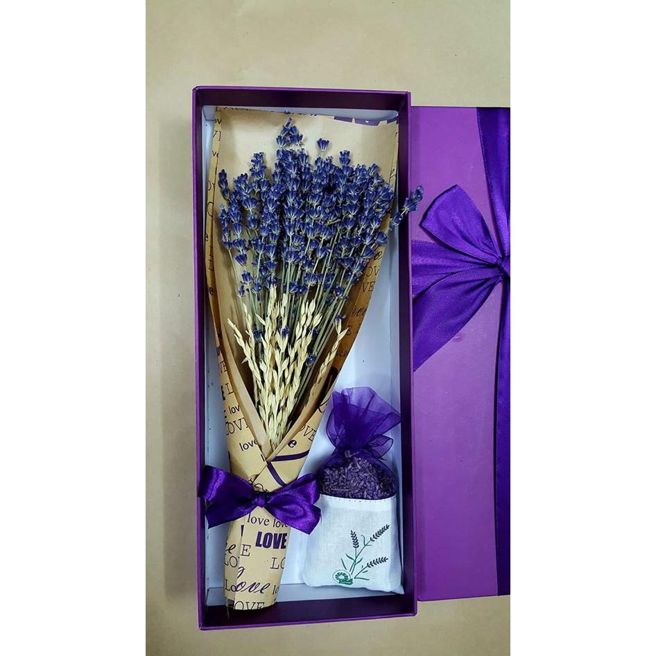 Hộp Quà Bộ Bó Hoa Khô Oải Hương Lavender + Túi Thơm Nụ Lavender - 3216462 , 568056356 , 322_568056356 , 180000 , Hop-Qua-Bo-Bo-Hoa-Kho-Oai-Huong-Lavender-Tui-Thom-Nu-Lavender-322_568056356 , shopee.vn , Hộp Quà Bộ Bó Hoa Khô Oải Hương Lavender + Túi Thơm Nụ Lavender